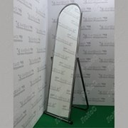 Зеркало напольное, 500Lx1550Hx500D мм, полотно 1500х370мм, 5MMO-01(белый матовый) фото