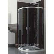 Душевая кабина полукруглая, стекло прозрачное, профиль хром, 80х185 см Aquaform Lazuro фото