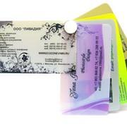 Пластиковые визитки фото