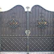 Распашные ворота эл1 фото