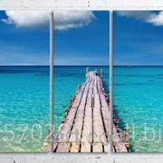 Модульна картина на полотні Морський міст код КМ100200(200)-042 фото