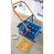 Вибростанок для производства шлакоблоков на два блока вшм-2В фото