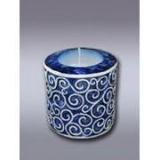 Лак для свечей синий металлик фото