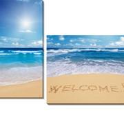 Картина модульная Пляж фото