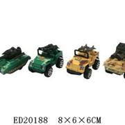 Машинка военная малая в ассорт.инерционная в пак.,100581441/ED20188/DG255-8801 фото
