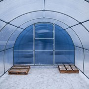 Теплица Сибирская Премиум, КРАБ труба 40х20 4м шаг 67см фото