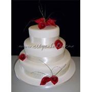 Торт свадебный №0186 код товара: 1-0186 фото