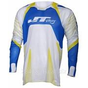 JT Racing ДЖЕРСИ PROTEC SUBFRAME-V белая/синяя фото