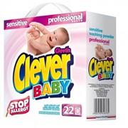Бесфосфатный стиральный порошок для новорожденных Clever Baby Sensitiv фото