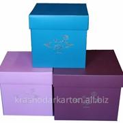 Коробки для цветов квадратные фото