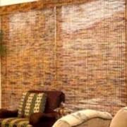 Шторы из бамбука и тростника фото