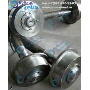 Колесные пары, колеса с ребордой фото