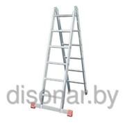 Алюминиевая двухсекционная шарнирная лестница 2х6 ступеней TriMatic KRAUSE 121325 фото