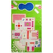 """Детский 3D ковер """"Игровой домик"""" зеленый, 100х200см (IVI) фото"""