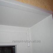 Установка пластиковых откосов на окна и двери фото