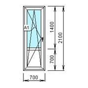 Дверь балконная ПВХ 2100х700 мм. фото