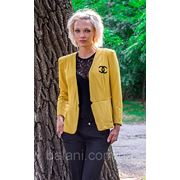 Пиджак Chanel (2104/КЛ)/желтый фото