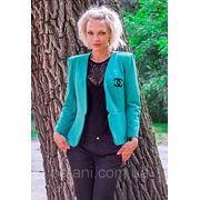 Пиджак Chanel (2104/КЛ)/бирюза фото