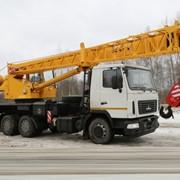 Услуга автокрана на базе МАЗ, грузоподъемность 25 т, вылет стрелы 28 м фото