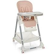 """Складной стульчик для кормления Bambi: экокожа, регулируется высота и наклон до """"лежа"""" фото"""