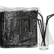 Соломка для коктейлей, в ассортименте - 250 шт/уп фото