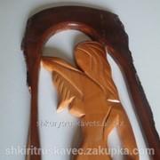 Настенная декорация, дева, дерево, коричневого цвета, вага 2 кг фото