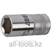 Торцовая головка Kraftool Industrie Qualitat , Cr-V, Flank , хромосатинированная, 1/2, 8 мм Код:27805-08_z01 фото