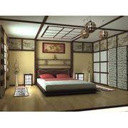 Услуги по дизайнерскому интерьеру жилых домов в японском стиле фото