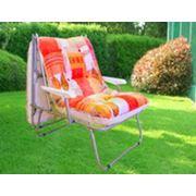Раскладушка кресло-кровать для взрослых КР-3 С 889-43 с матрацем и локотниками с локотниками с матрацем фото