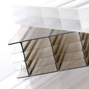 Поликарбонат сотовый прозрачный, 2,1х12 м, толщина 4 мм Стандарт фото