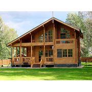 Деревянные дома из цилиндрованных бревен фото