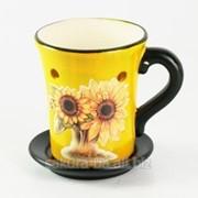 Аромолампа Арт / Чашка / 2 Подсолнуха / Желтый s02305-01 фото