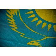Государственный Флаг Республики Казахстан флажная сетка сублимация 1 х 2 м. фото