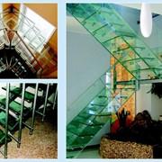 Лестницы из каленого стекла фото