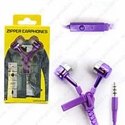 Внутриканальные Наушники ZIPPER Universal Violet (Фиолетовый) фото