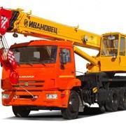 Автокран Ивановец 25 тонн на шасси Камаз (маз, урал) фото