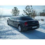 Прокат, аренда авто посуточно Chrysler 300 long (Крайслер мини лимузин) чёрного цвета фото