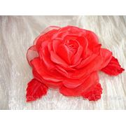 Искусственный цветок из ткани «Роза алая»