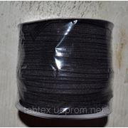 Резинка трикотажная 7мм.черная (50м) китай фото
