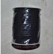 Резинка трикотажная 3мм.черная (200м) китай фото