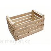 Ящик деревянный для овощей Ящик деревянный для фруктов. фото