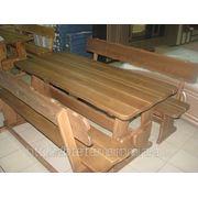 Изготовление садовой мебели из сосны по индивидуальному заказу