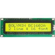 ЖК индикатор BC 1602 AGPLCTb-01, 16 симв., 2 строка фото