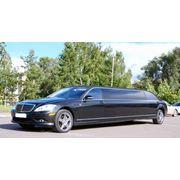 Прокат, аренда лимузинов, Mercedes-Benz S550 AMG (Мерседес) чёрного цвета, 10 метровый, 9 местный фото