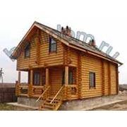 Малоэтажное строительство: дома и бани из оцилиндрованного бревна фото