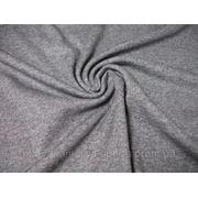 Трикотаж серый меланж фото