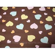 Бифлекс коричневый с принтом «сердечки» фото