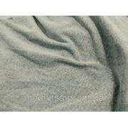 Трикотаж велюровый х/б (св. серый) меланж (арт. 05769) фото