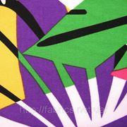 Трикотажное полотно набивное «Калейдоскоп» (трикотаж масло) фото