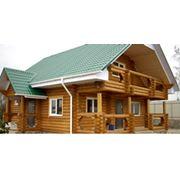 Строительство деревянных домов из оцилиндрованного бревна фото